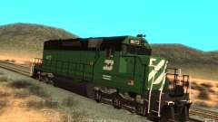 Locomotive SD 40 Burlington Northern 8072 for GTA San Andreas