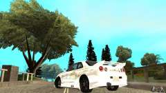 Nissan SkyLine R34 Tunable V2 for GTA San Andreas