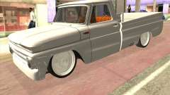 Chevrolet C10 1966 Low Gray for GTA San Andreas