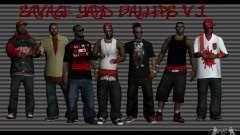 Skins gang Bloodz for GTA San Andreas