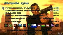 Menu in the style of GTA 4