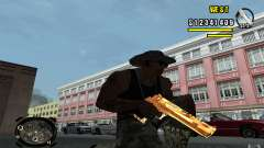 Gold Weapon Pack v 2.1 for GTA San Andreas