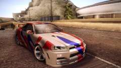 Nissan Skyline full tune for GTA San Andreas