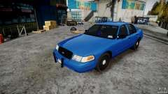 Ford Crown Victoria Detective v4.7 Emerglights blue [ELS] for GTA 4