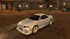 Nissan Skyline GT-R R34 2 Fast 2 Furious for GTA San Andreas