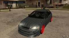 Honda Civic Carbon Latvian Skin for GTA San Andreas