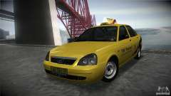 LADA 2170 Priora Taxi TMK Afterburner for GTA San Andreas