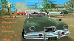 Packard Standard Eight Touring Sedan Police 1948 for GTA Vice City