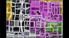 Map with street names for GTA San Andreas