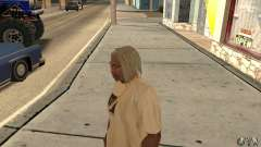Long blonde hair for GTA San Andreas