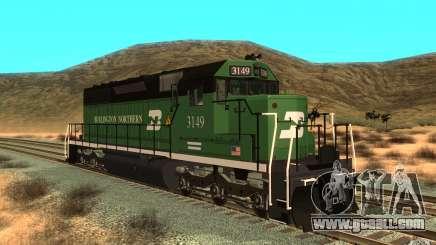 SD 40 Union Pacific Burlington Northern 3149 for GTA San Andreas