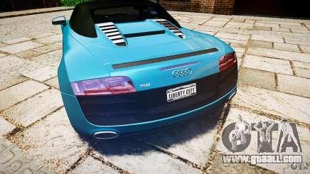Audi R8 Spyder 5.2 FSI Quattro V4 [EPM] for GTA 4