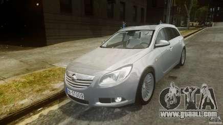 Opel Insignia Sports Tourer 2009 for GTA 4