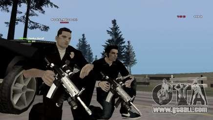 Black & White guns for GTA San Andreas