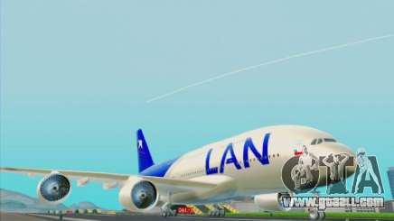 Airbus A380-800 Lan Airlines for GTA San Andreas