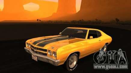 Chevrolet Chevelle SS 1970 v.2.0 pjp1 for GTA San Andreas