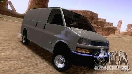 Chevrolet Savana 3500 Cargo Van for GTA San Andreas