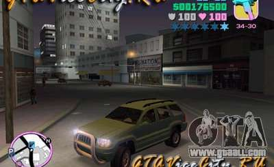 JEEP GRAND CHEROKIE for GTA Vice City