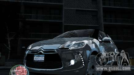 Citroen DS3 2011 for GTA 4