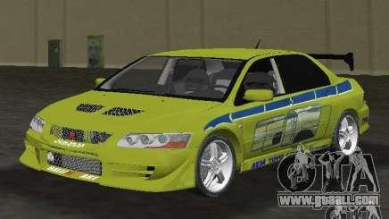 Mitsubishi Lancer Evolution VII for GTA Vice City