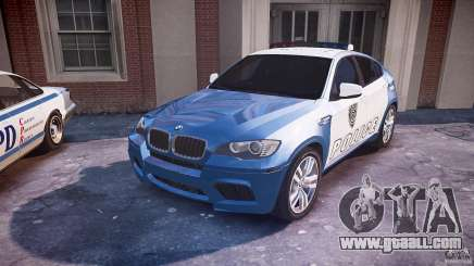 BMW X6M Police for GTA 4