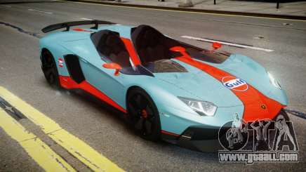 Lamborghini Aventador J 2012 Gulf for GTA 4