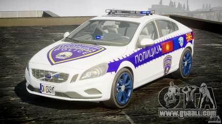 Volvo S60 Macedonian Police [ELS] for GTA 4