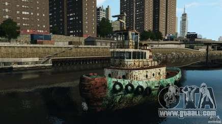 Realistic Rusty Tugboat for GTA 4