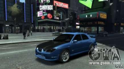Subaru Impreza WRX STI 2006 for GTA 4