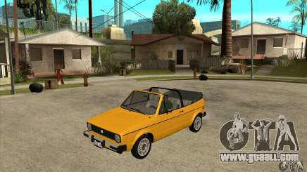 Volkswagen Rabbit Convertible for GTA San Andreas