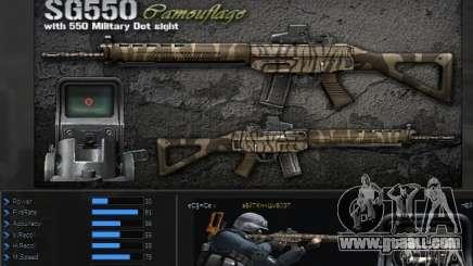 [Point Blank] SG550 Kamo for GTA San Andreas