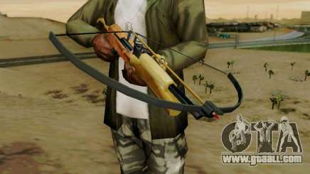 A working crossbow with arrows for GTA San Andreas