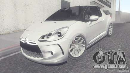 Citroen DS3 Convertible for GTA San Andreas