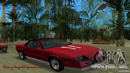 Chevrolet Camaro Convertible 1986 for GTA Vice City