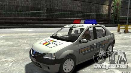 Dacia Logan Prestige Politie for GTA 4