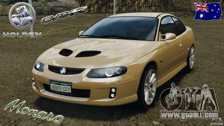 Holden Monaro CV8-R for GTA 4