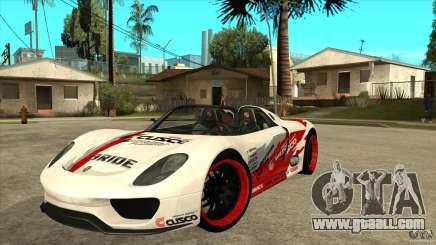 Porsche 918 Spyder Consept for GTA San Andreas