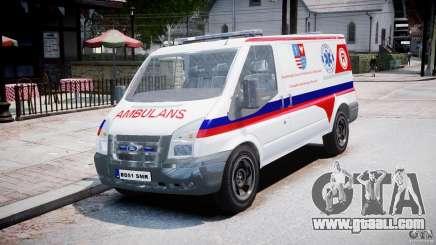 Ford Transit Polish Ambulance [ELS] for GTA 4