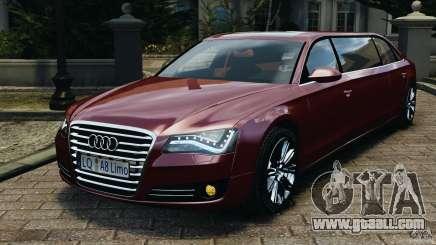 Audi A8 Limo v1.2 for GTA 4