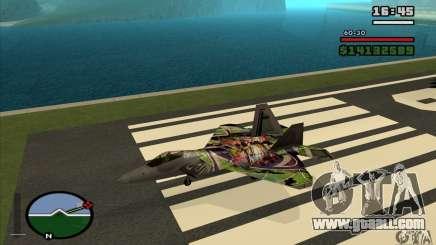 F-22 Raptor Graffity Skin for GTA San Andreas