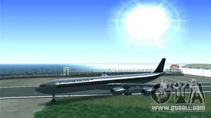 Airbus A340-600 Singapore Airlines for GTA San Andreas