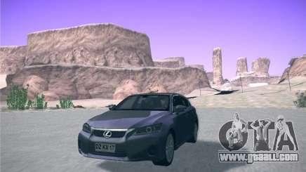 Lexus CT200H 2012 for GTA San Andreas
