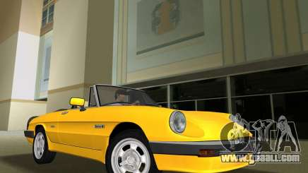 Alfa Romeo Spider 1986 for GTA Vice City