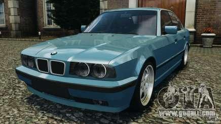 BMW E34 V8 540i turquoise for GTA 4