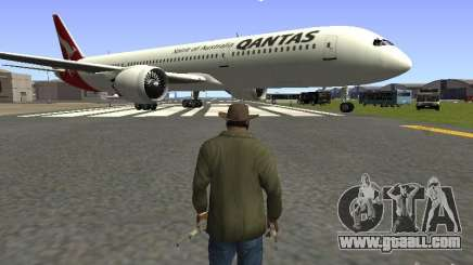 Boeing 787 Dreamliner Qantas for GTA San Andreas