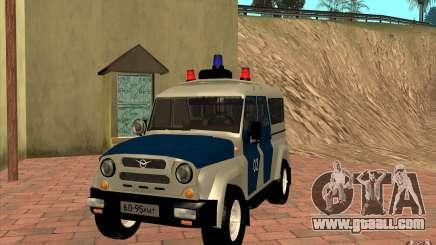 Bobik UAZ-3159 Police v. 2 for GTA San Andreas