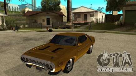 1971 Plymouth Roadrunner 440 for GTA San Andreas