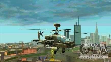 Apache AH64D Longbow for GTA San Andreas