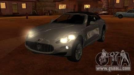 Maserati Granturismo S silver for GTA San Andreas