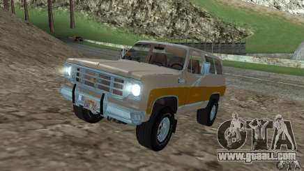 Chevrolet Blazer 1979 for GTA San Andreas